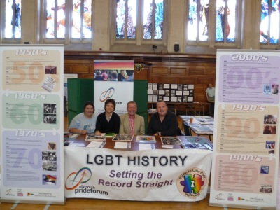 Pride in Our Past Volunteers at the Archives from the Attic event