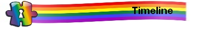 Pride in Our Past - Timeline rainbow logo