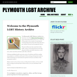 Plymouth LGBT Archive screen capture