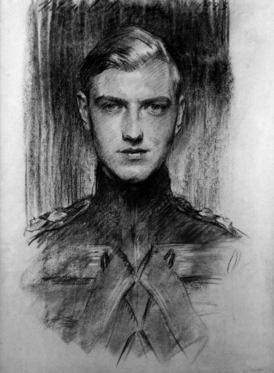 Charcoal drawing by John Singer Sargent - Robert Gould Shaw III