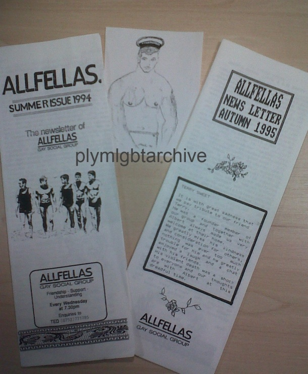 ALLFELLAS news letters and artwork 1990's