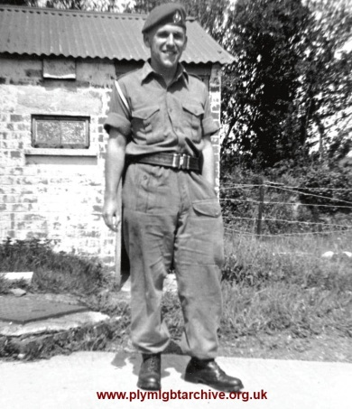 Paul Mann in army uniform 1950's