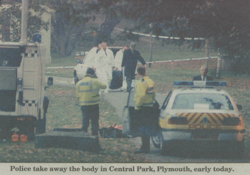 Photo - Police removing the body of Terry Sweet.