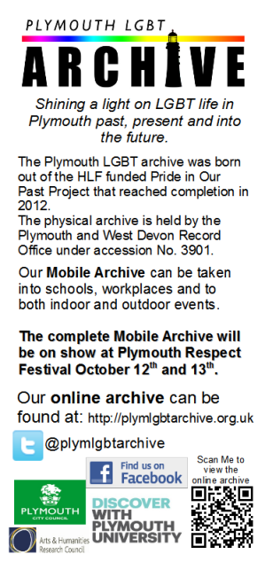 Plymouth LGBT Archive Flyer 2013